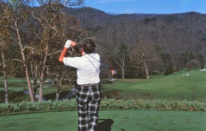 dad golfing at the greenbrier